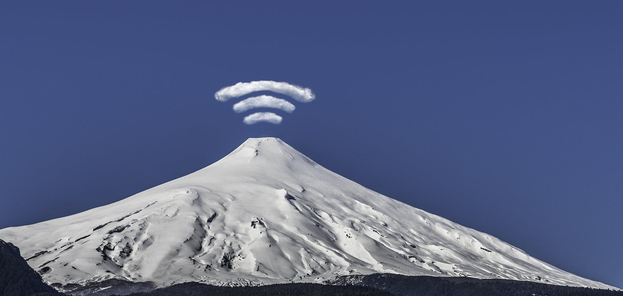 Vista volcan Villarrica desde Cowork Pucón
